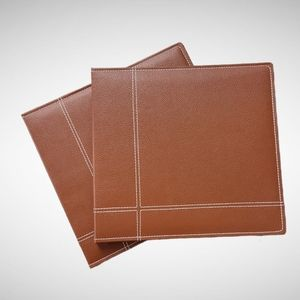 2 Brown Leather Scrapbook Albums